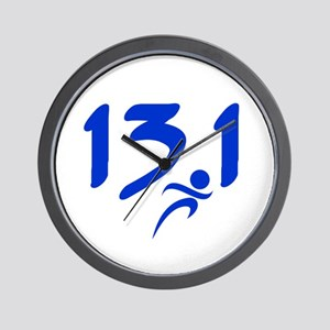 Blue 13.1 half-marathon Wall Clock