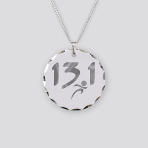 Silver 13.1 half-marathon Necklace Circle Charm