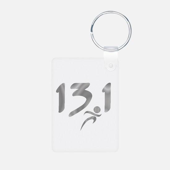 Silver 13.1 half-marathon Keychains