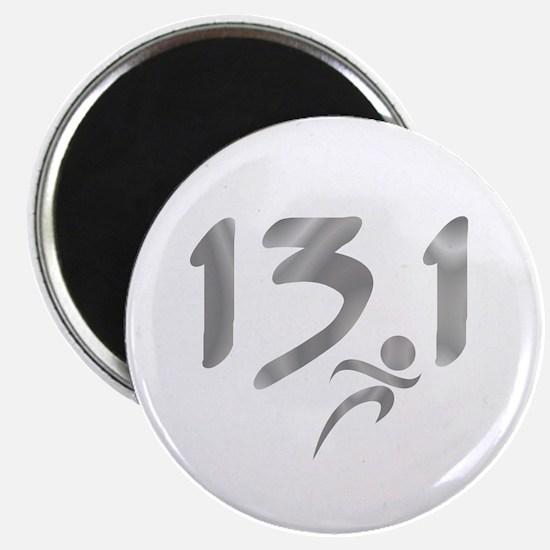 Silver 13.1 half-marathon Magnet