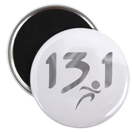 """Silver 13.1 half-marathon 2.25"""" Magnet (10 pack)"""