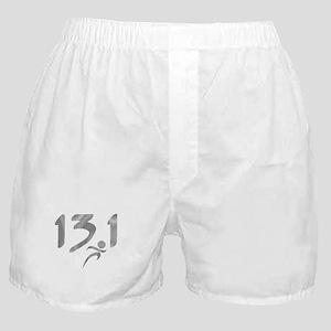 Silver 13.1 half-marathon Boxer Shorts