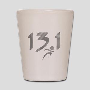 Silver 13.1 half-marathon Shot Glass