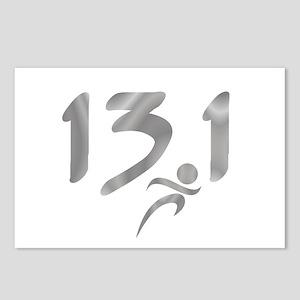 Silver 13.1 half-marathon Postcards (Package of 8)