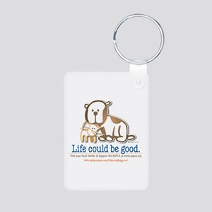 Life Could be Good Aluminum Photo Keychain