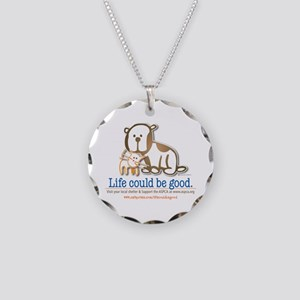 Life Could be Good Necklace Circle Charm