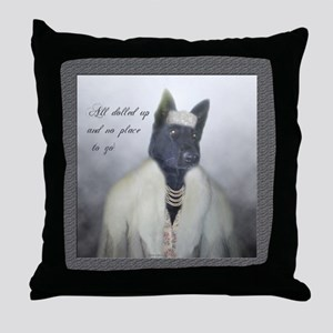 Silly Dogs Throw Pillow