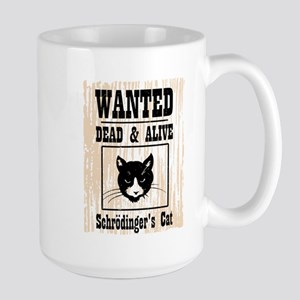 Wanted Schrodingers Cat Large Mug