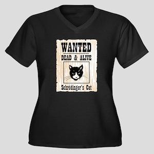 Wanted Schrodingers Cat Women's Plus Size V-Neck D
