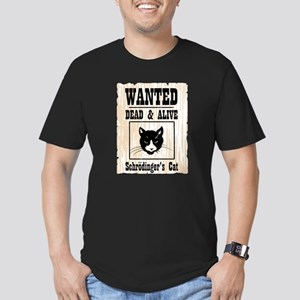 Wanted Schrodingers Cat Men's Fitted T-Shirt (dark