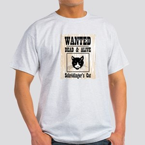 Wanted Schrodingers Cat Light T-Shirt