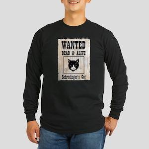 Wanted Schrodingers Cat Long Sleeve Dark T-Shirt