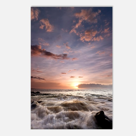 Hawaiian Sunset Waves Postcards (Package of 8)