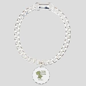 Happy TRex Charm Bracelet, One Charm