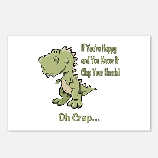 Happy TRex Postcards (Package of 8)