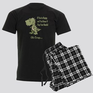 Happy TRex Men's Dark Pajamas