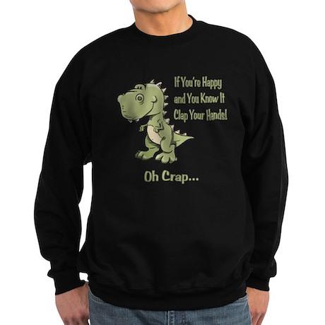 Happy TRex Sweatshirt (dark)