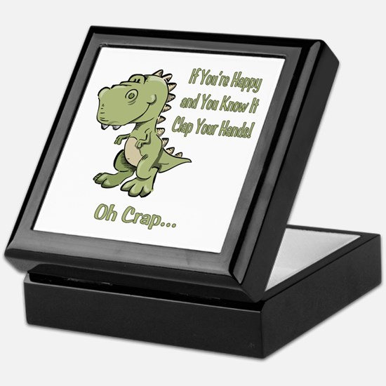 Happy TRex Keepsake Box