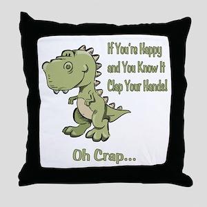 Happy TRex Throw Pillow
