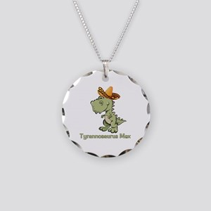 Tyrannosaurus Mex Necklace Circle Charm
