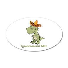 Tyrannosaurus Mex 22x14 Oval Wall Peel