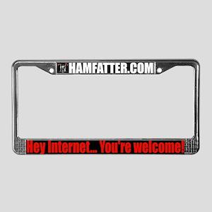 HAMFATTER.COM License Plate Frame