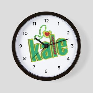 I heart kale Wall Clock