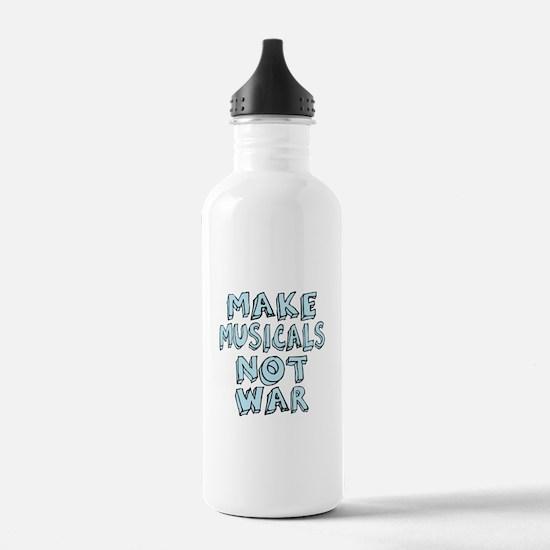 Make Musicals Not War Sports Water Bottle