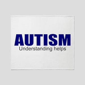 Autism, understanding helps Throw Blanket