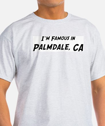 Famous in Palmdale Ash Grey T-Shirt
