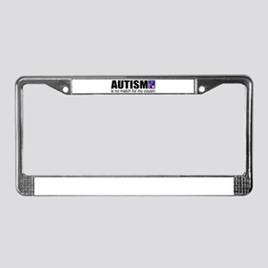 Autism vs my cousin License Plate Frame