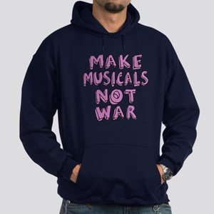 Make Musicals Not War Hoodie (dark)