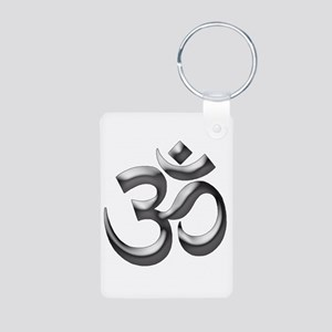 Om Aluminum Photo Keychain