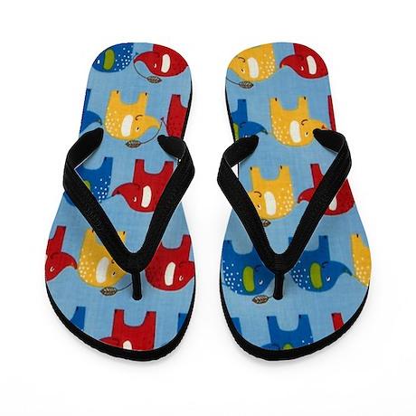 Elephants Summer Flip Flops