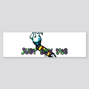 Just Say Yes Sticker (Bumper)