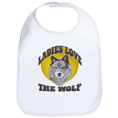 Ladies Love the Wolf Bib