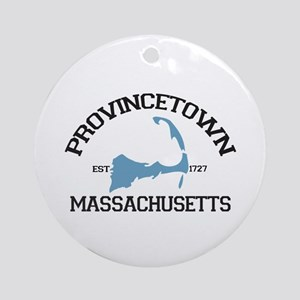Provincetown MA - Varsity Design. Ornament (Round)