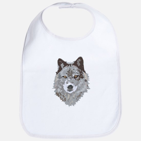 Wolf Head Bib