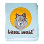 Lone Wolf baby blanket
