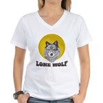 Lone Wolf Women's V-Neck T-Shirt