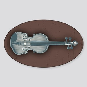Blue Violin Sticker (Oval)