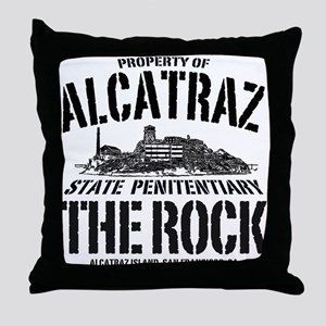 PROPERTY OF ALCATRAZ Throw Pillow