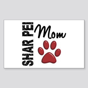 Shar Pei Mom 2 Sticker (Rectangle)