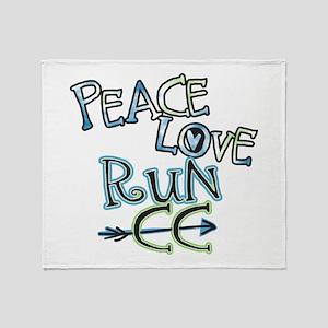 Peace Love Run CC Throw Blanket