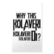 Why This Kolaveri Di? Sticker (Rectangle)