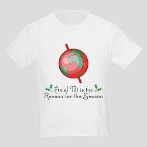 Axial Tilt is the Reason Kids Light T-Shirt