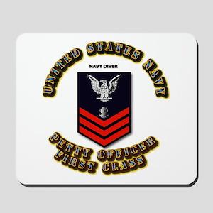 Navy Diver Mousepad