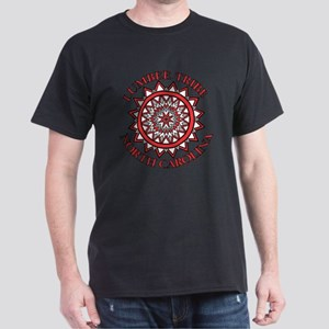 Red Lumbee Patchwork Dark T-Shirt