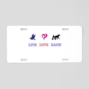 Live Love Race Aluminum License Plate