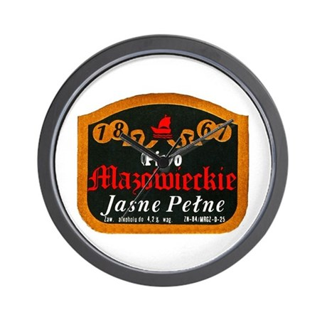 Poland Beer Label 10 Wall Clock